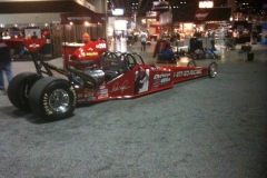 Red 2 Seater Dragster in Shop from Race Tech