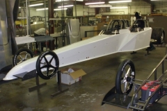 White 3 Seater Dragster from Race Tech Being Built