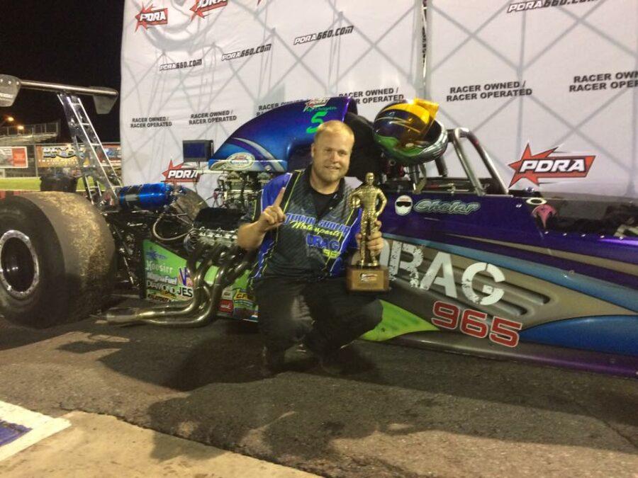 Derrik Sholar wins PDRA Memphis Top Dragster