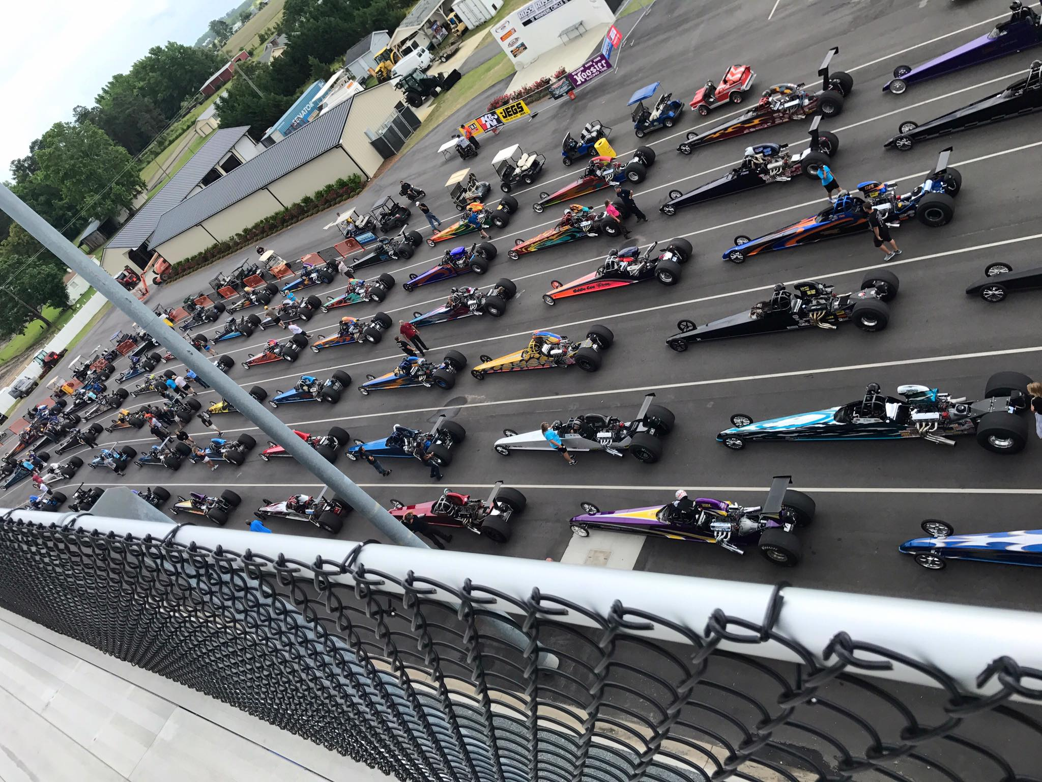 Lanes Full of Dragsters