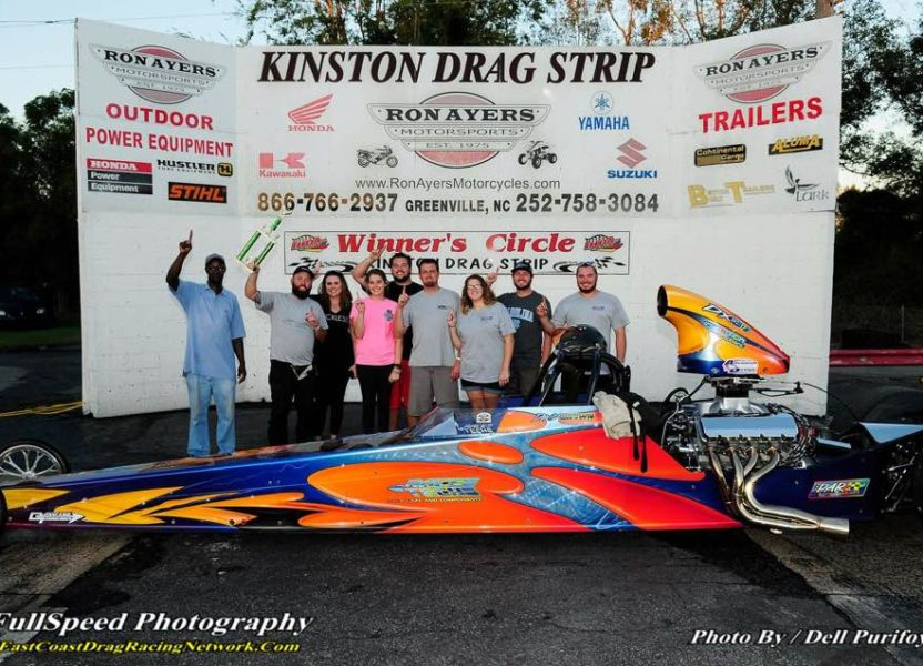 David Brown puts his Race Tech in the Winners Circle