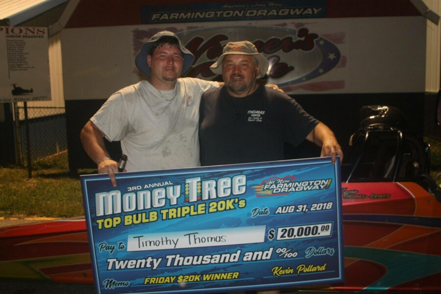 Timothy Thomas Seals the deal on $20,000 at Farmington