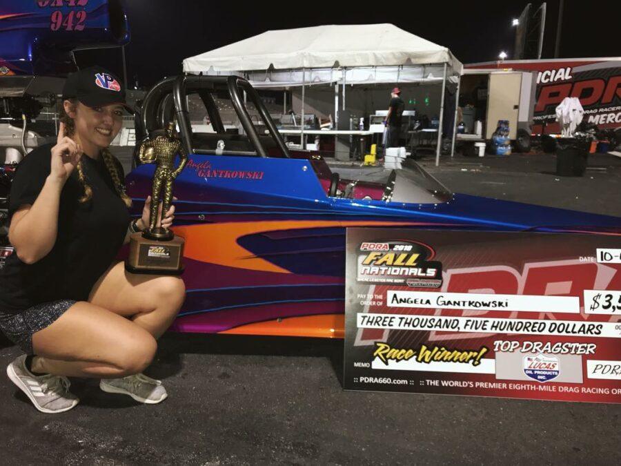 Angela Gantkowski Wins PDRA Top Dragster at Darlington!