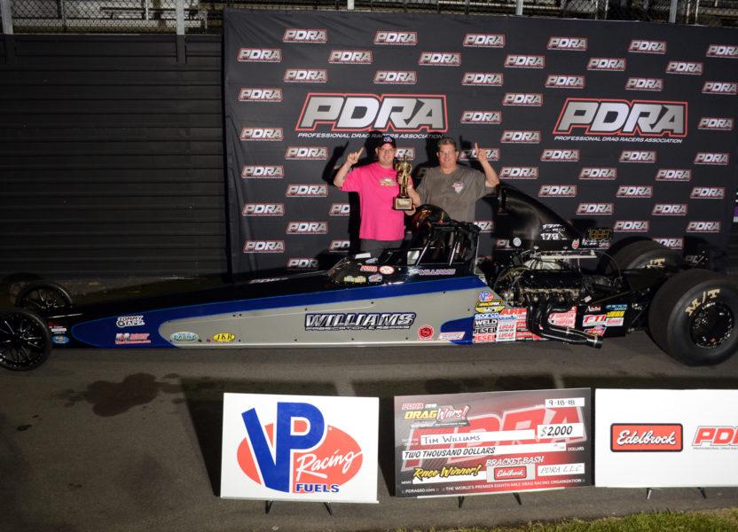 Tim Williams Wins PDRA Dragwars at GALOT