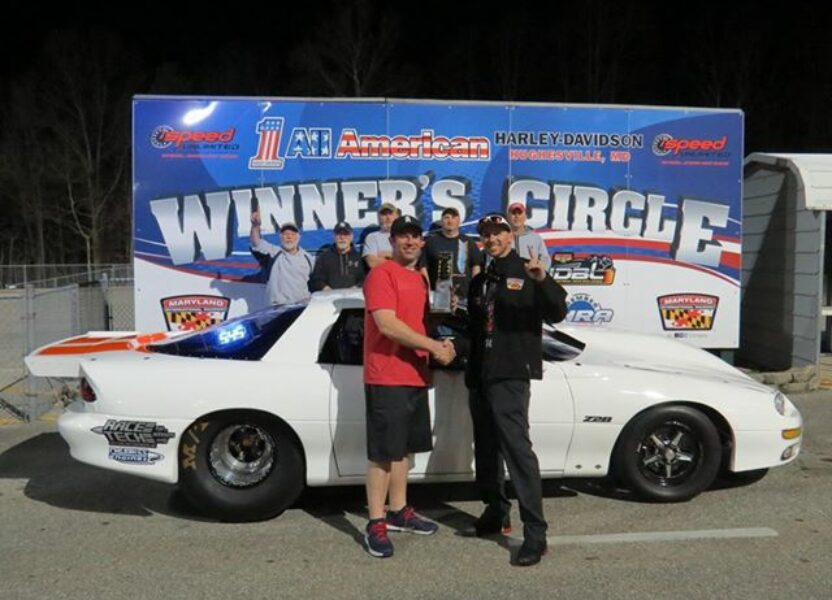 Dustin Stocksdale takes his Race Tech Camaro to the Winner Circle!