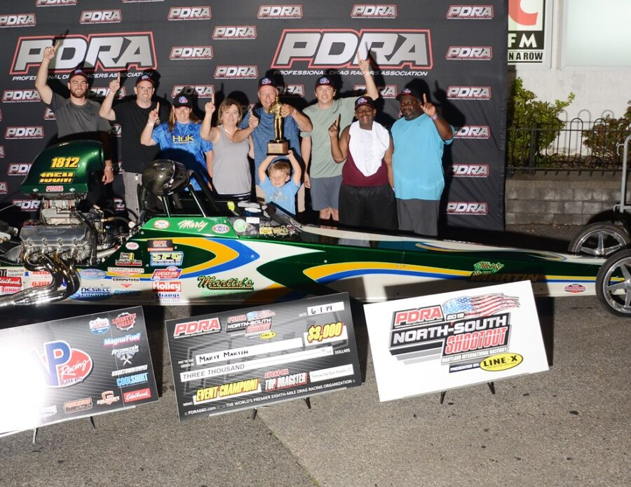 Marty Martin Wins PDRA Top Dragster at Maryland International Raceway