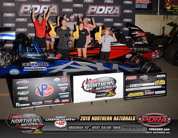 Noah Johnson wins PDRA Top Dragster at Dragway 42
